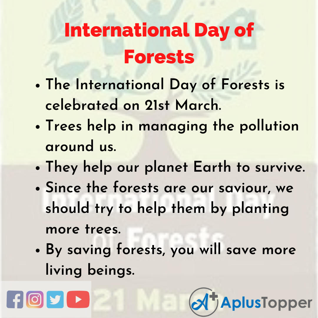 10 Lines about International Day of Forests