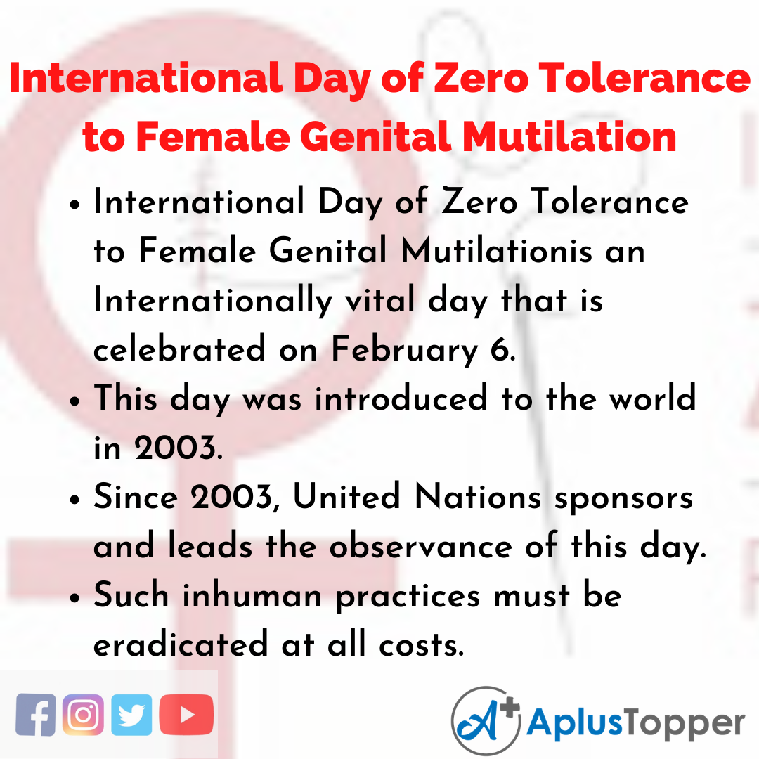10 Lines about International Day of Zero Tolerance to Female Genital Mutilation