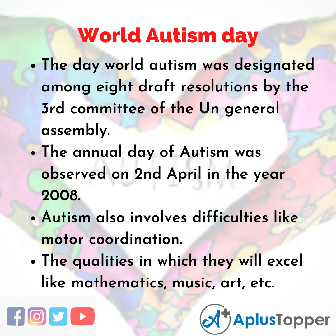 10 Lines about World Autism day