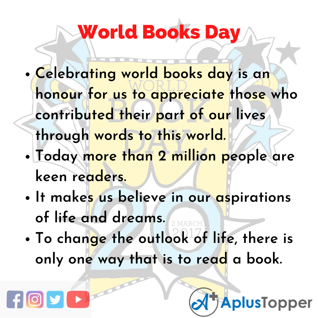 10 Lines about World Books Day