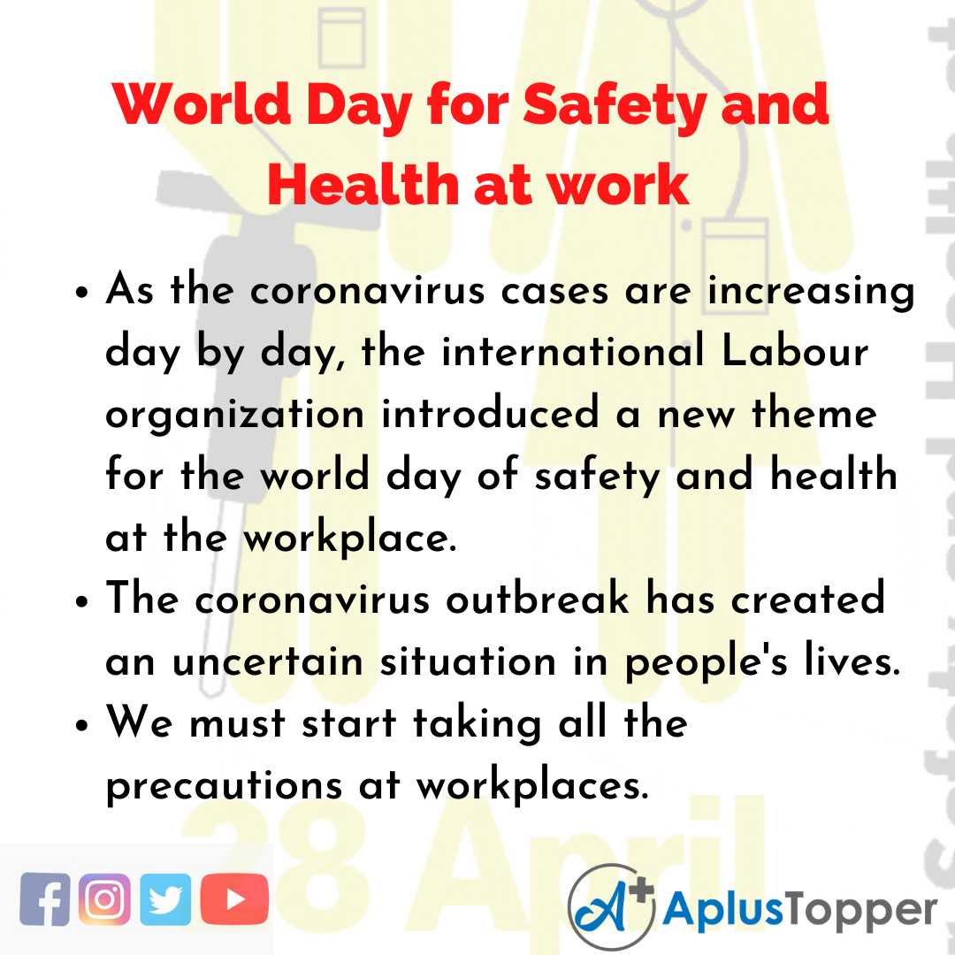 10 Lines about World Day for Safety and Health at work