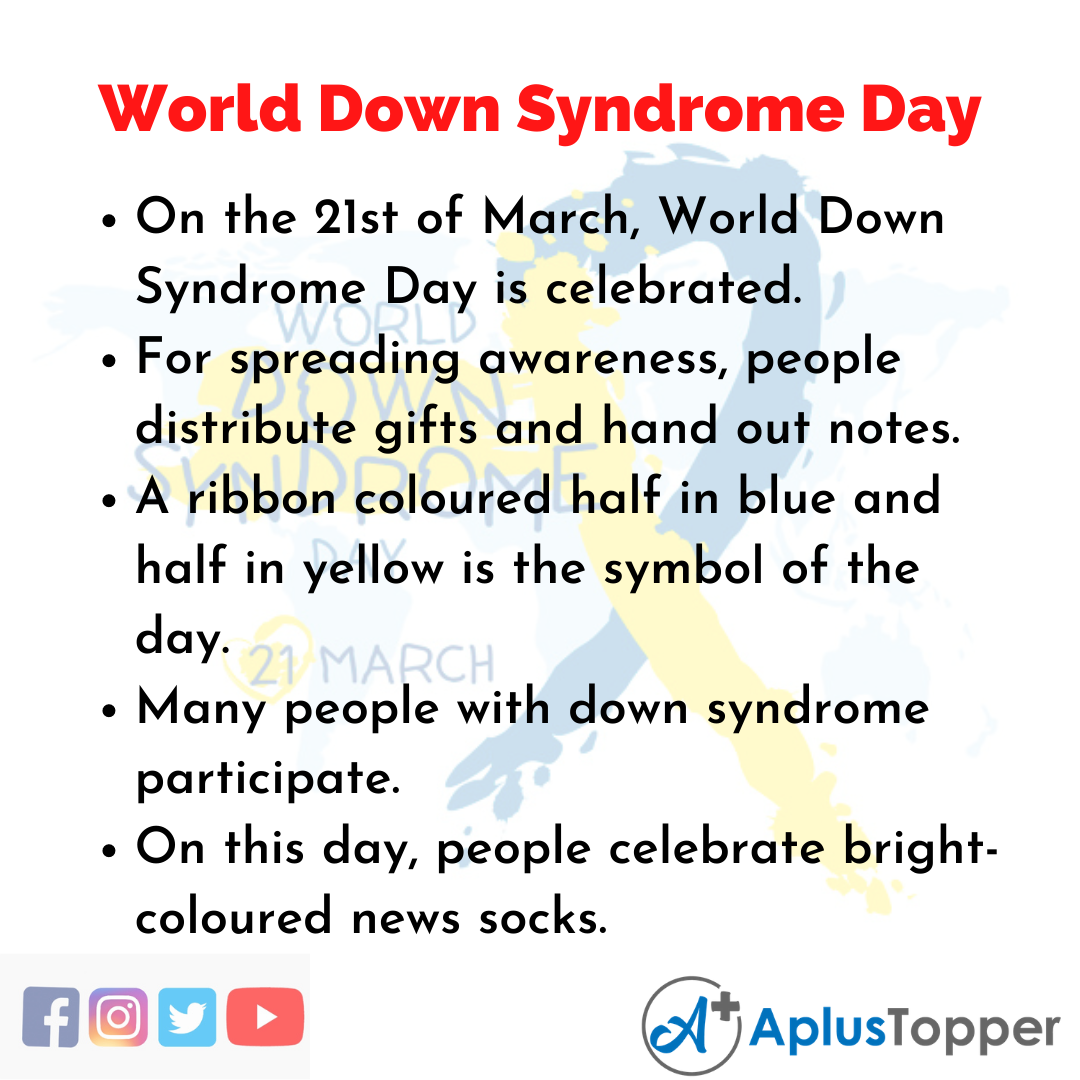 10 Lines about World Down Syndrome Day