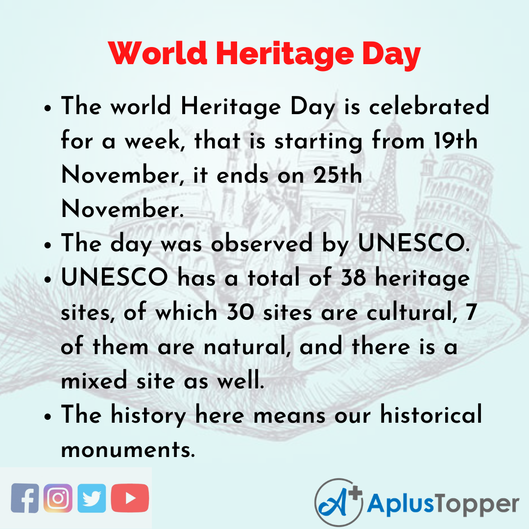 10 Lines about World Heritage Day