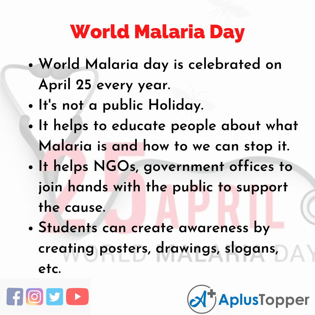 10 Lines about World Malaria Day