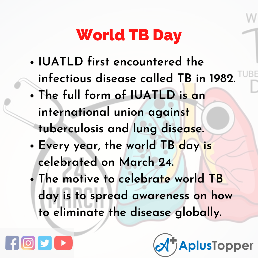 10 Lines about World TB Day