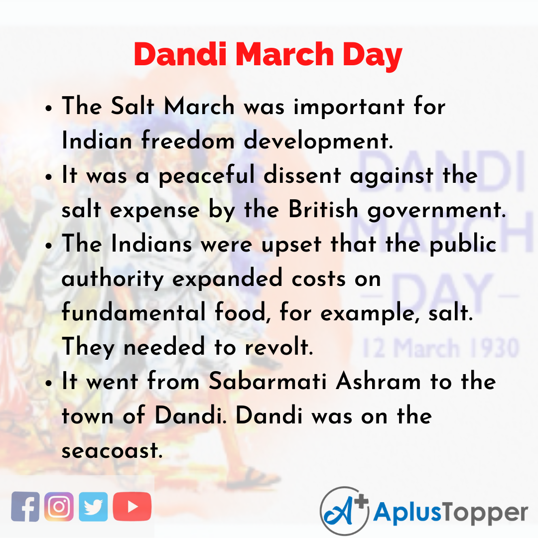 10 Lines of Dandi March Day