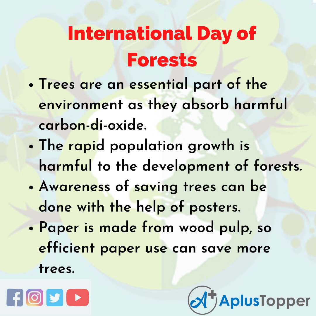 10 Lines of International Day of Forests