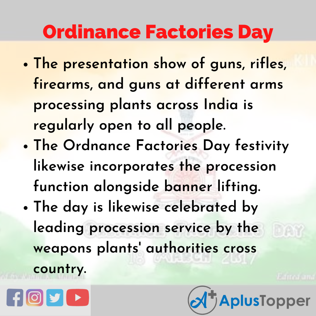 10 Lines of Ordinance Factories Day