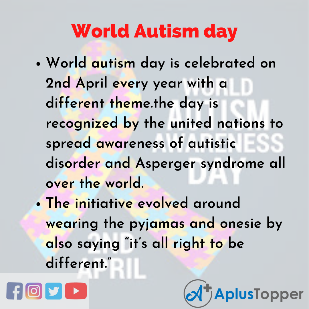 10 Lines of World Autism day