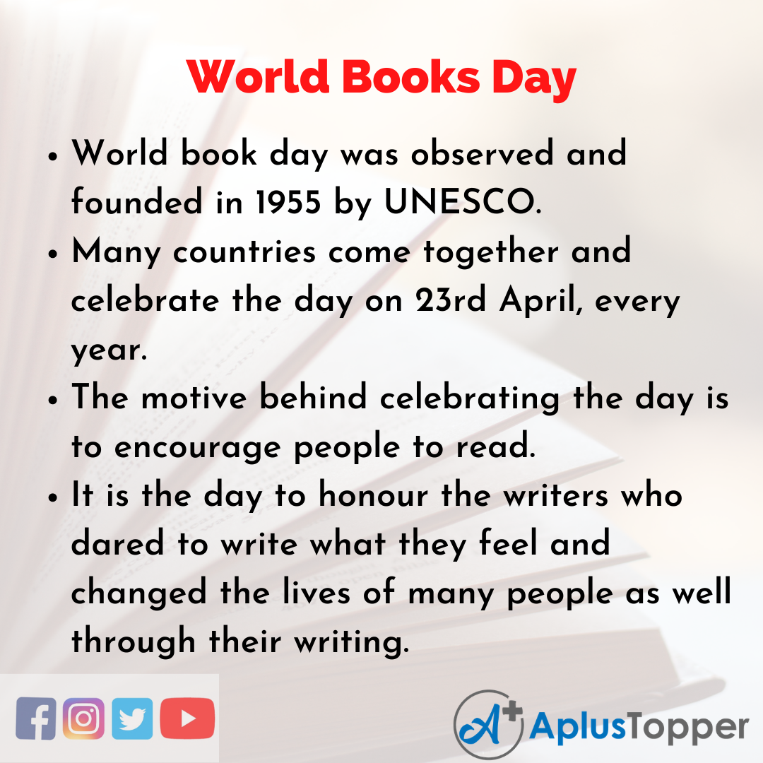 10 Lines of World Books Day