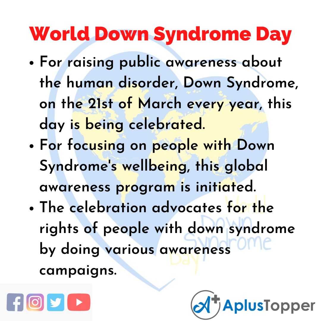 10 Lines of World Down Syndrome Day