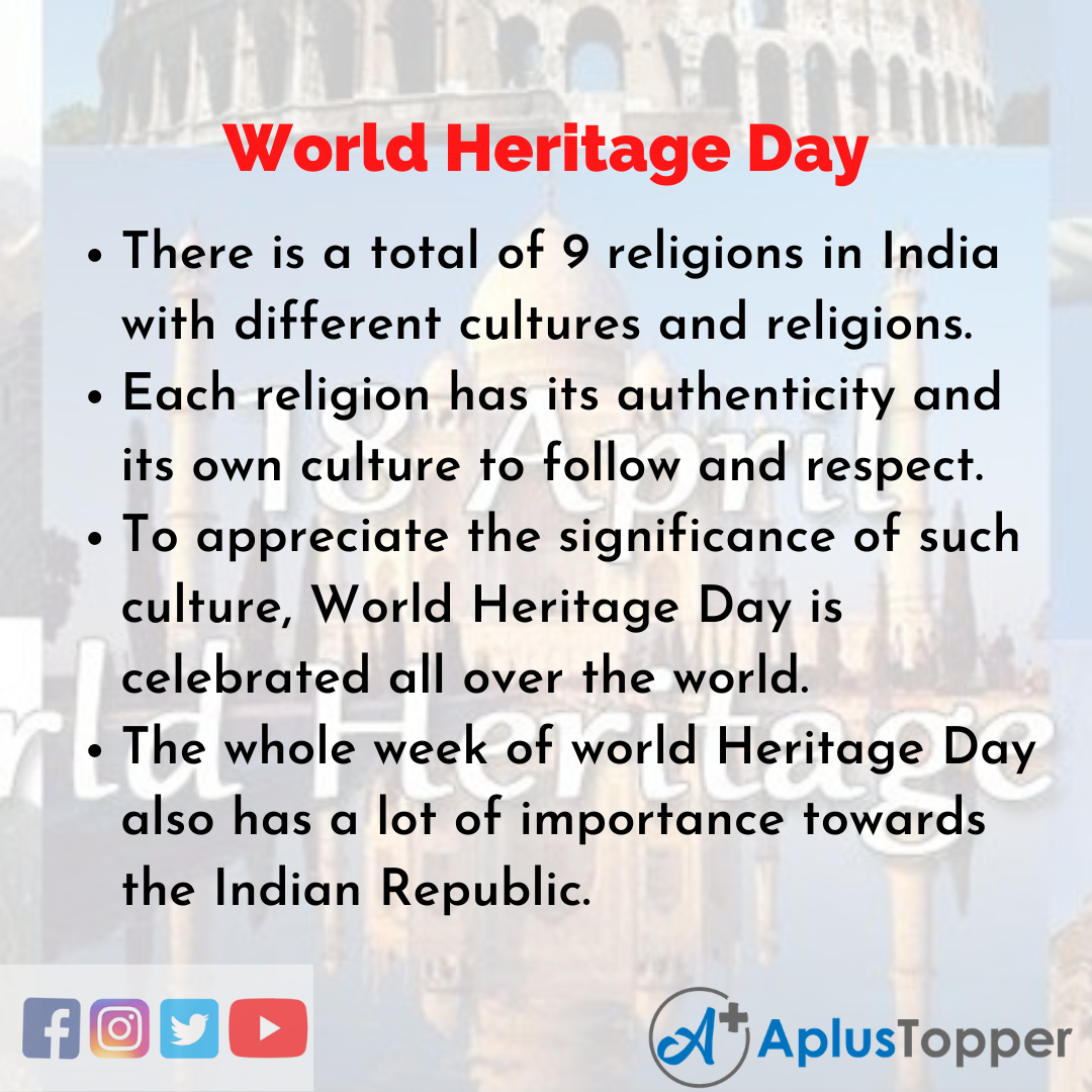 10 Lines of World Heritage Day