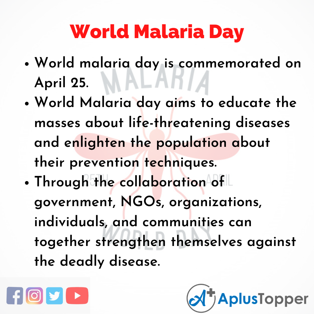 10 Lines of World Malaria Day