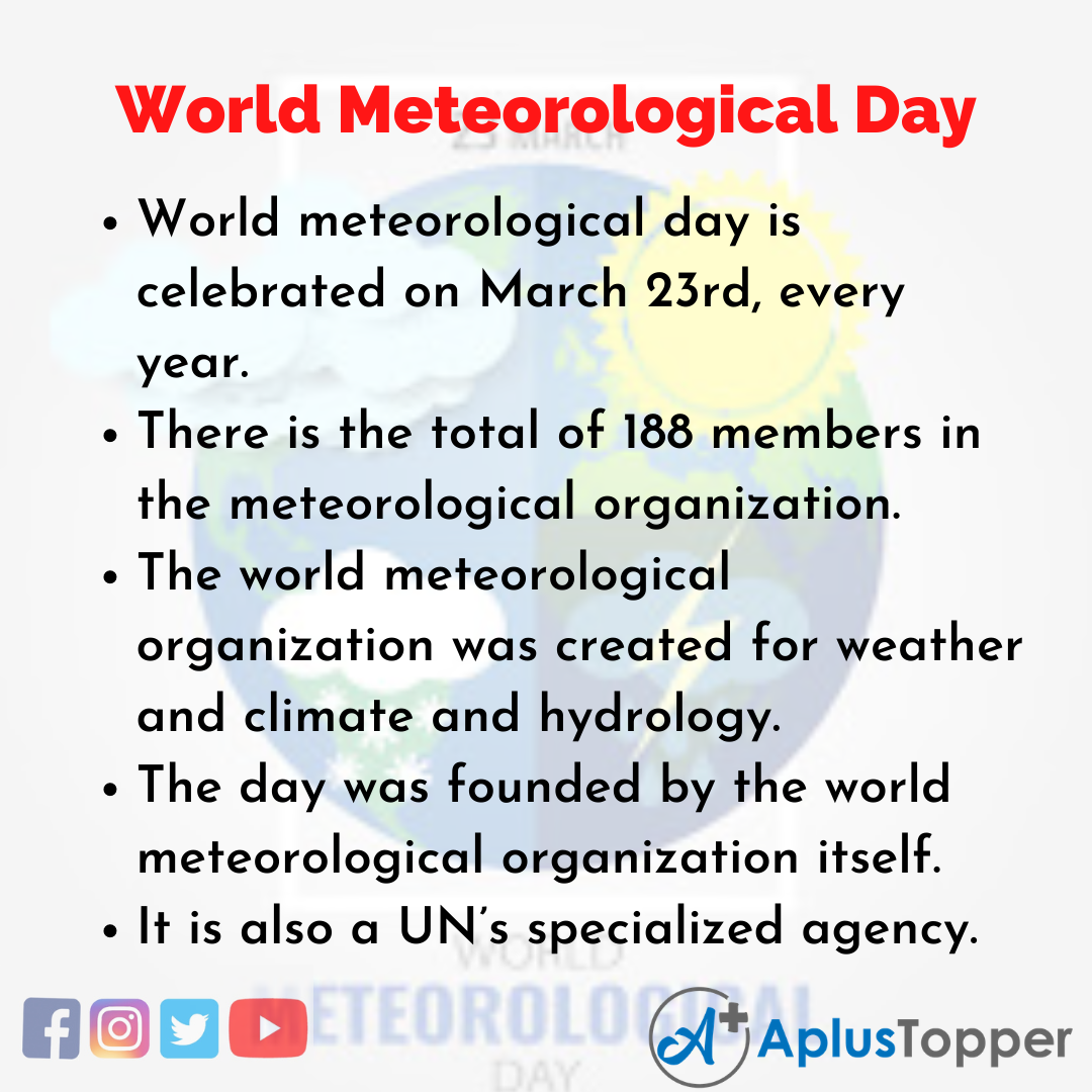 10 Lines of World Meteorological Day