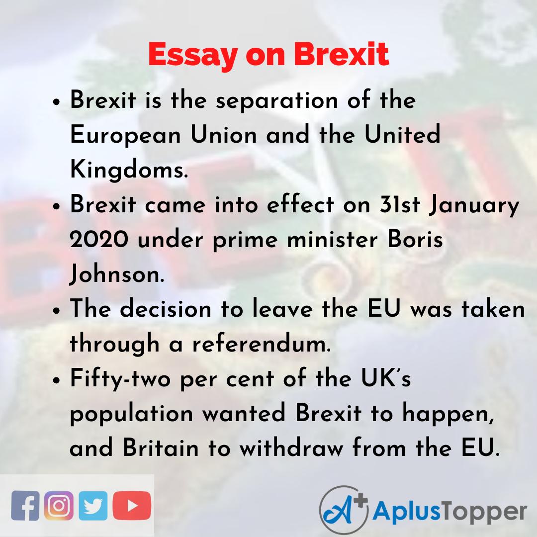 Brexit Essay