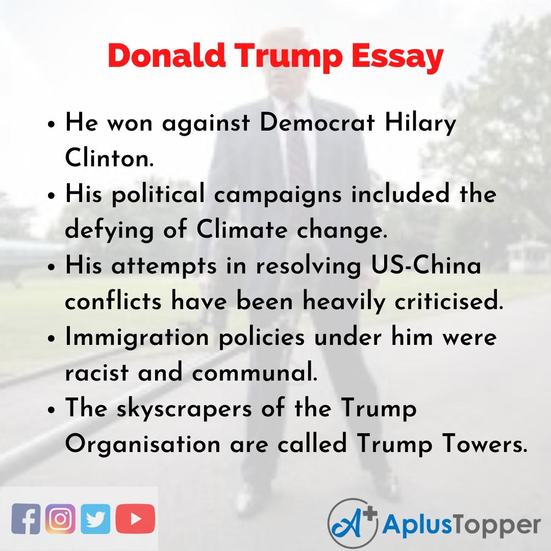 Essay On Donald Trump
