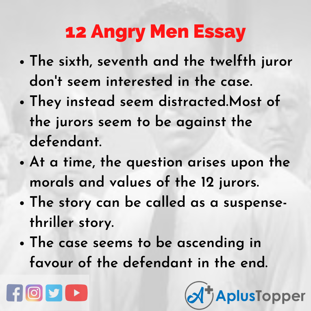Essay about 12 Angry Men