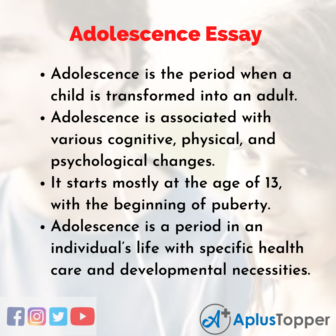 Essay about Adolescence