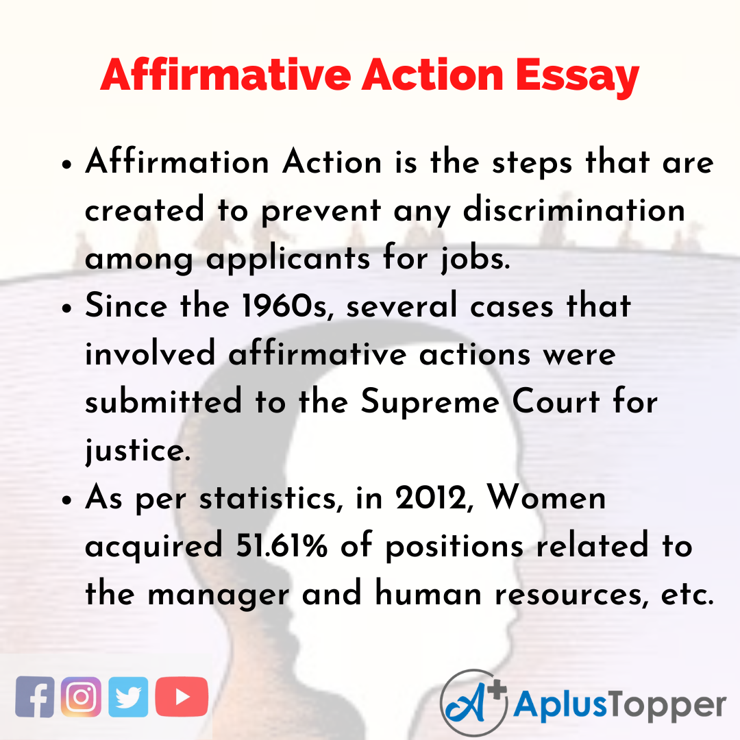 Essay about Affirmative Action
