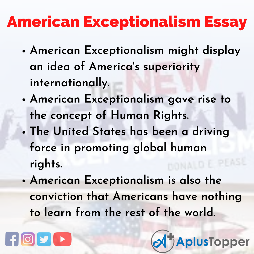 Essay about American Exceptionalism