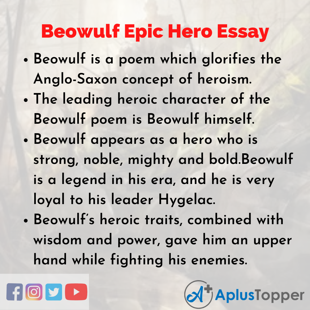 Essay about Beowulf Epic Hero