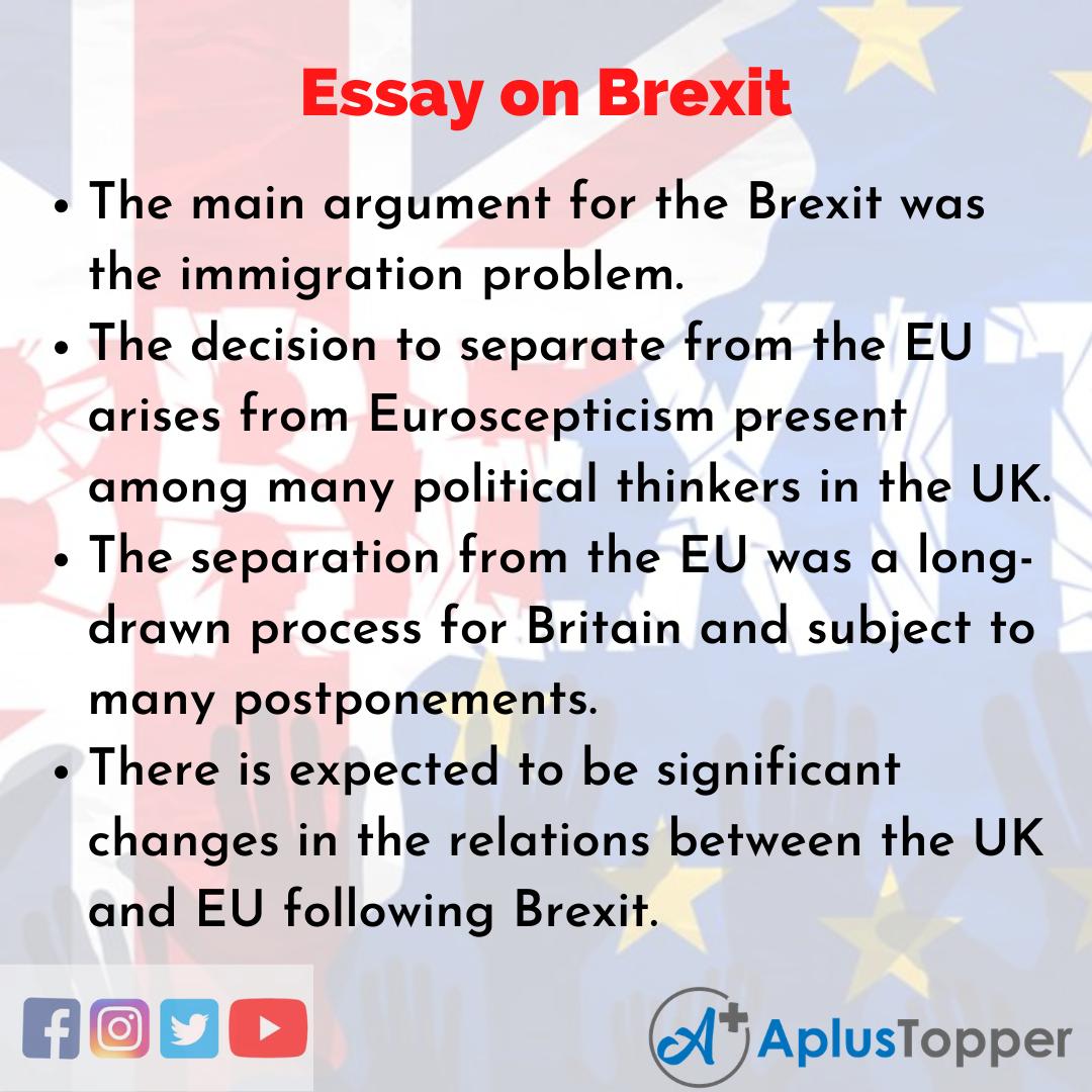 Essay about Brexit
