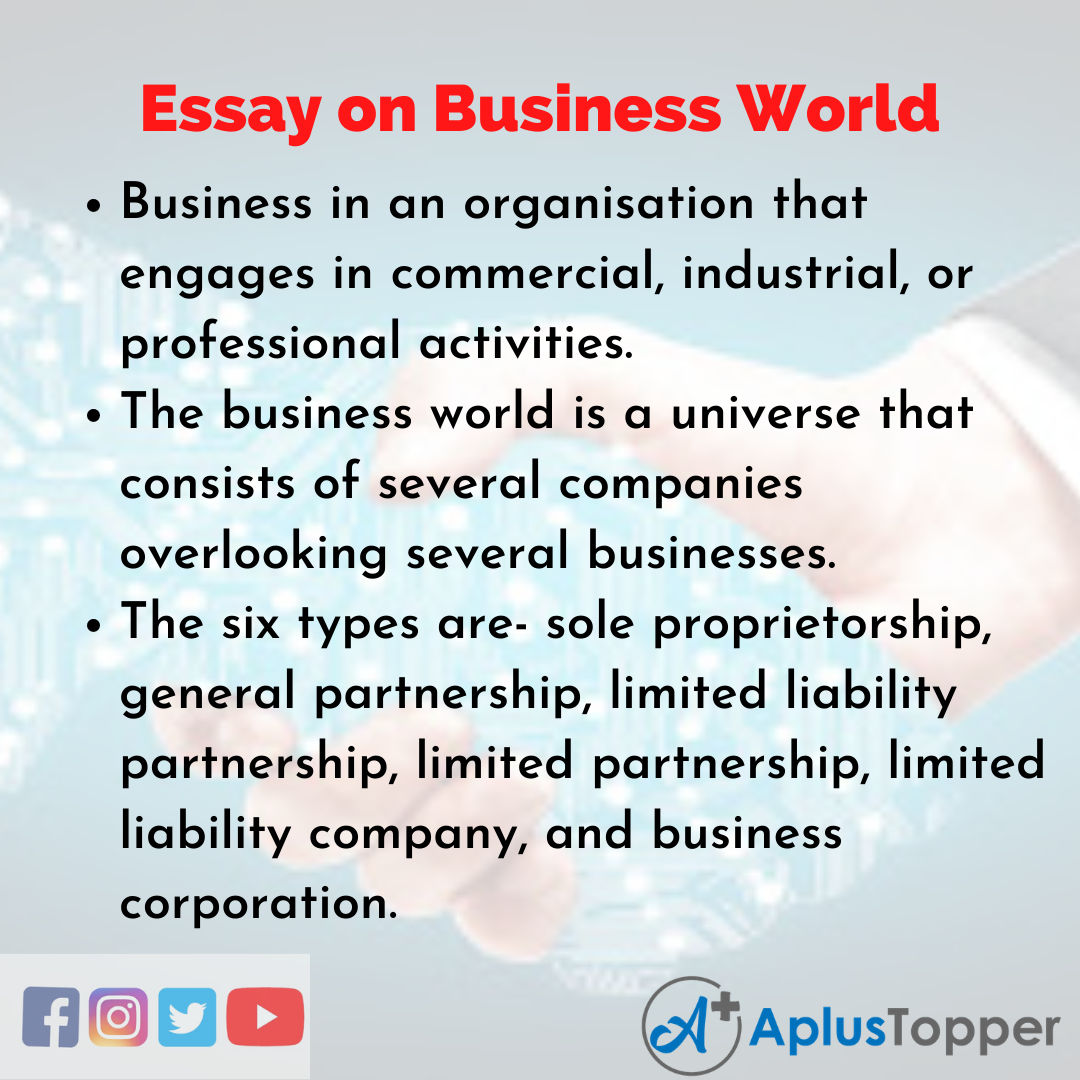 Essay about Business World