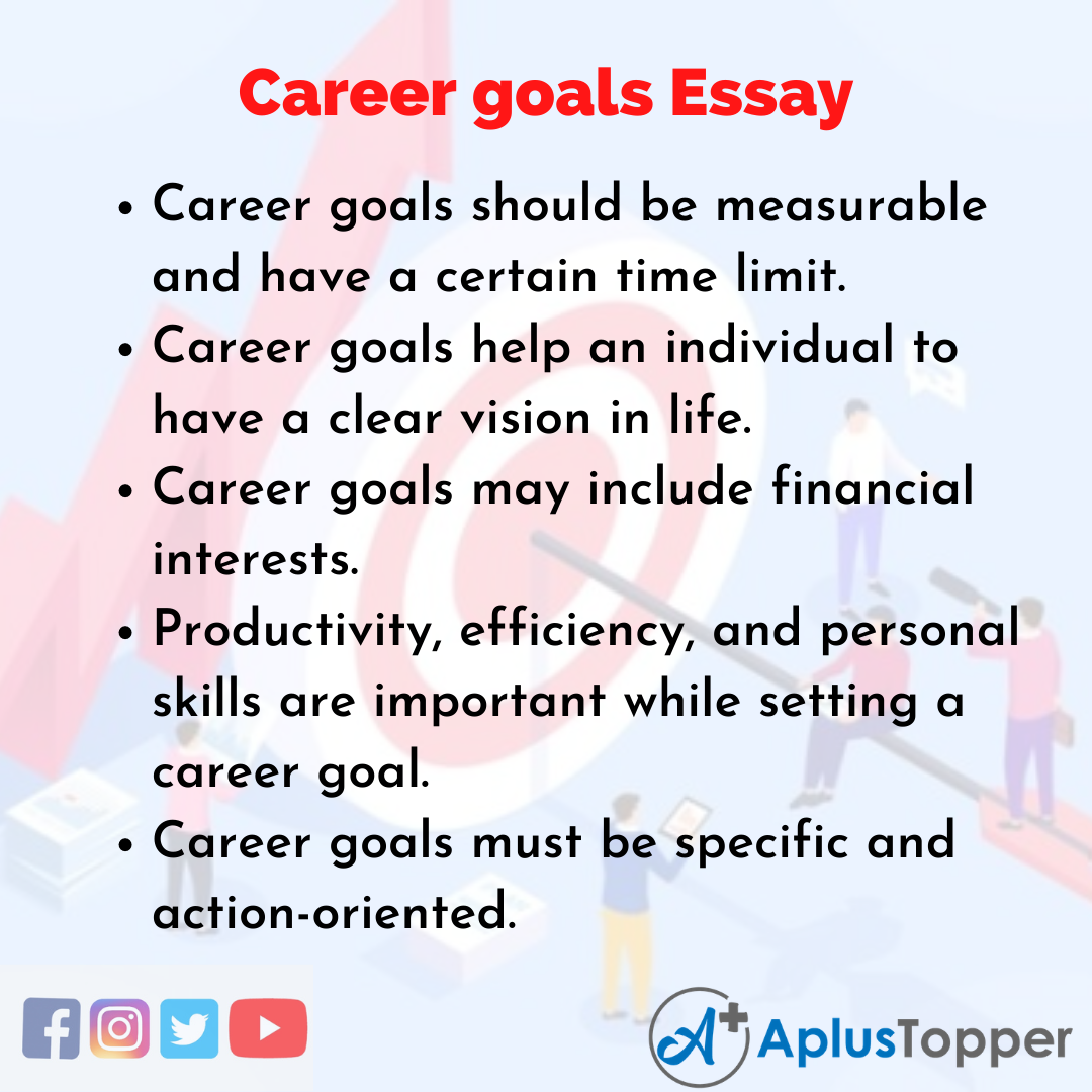 Essay about Career goals