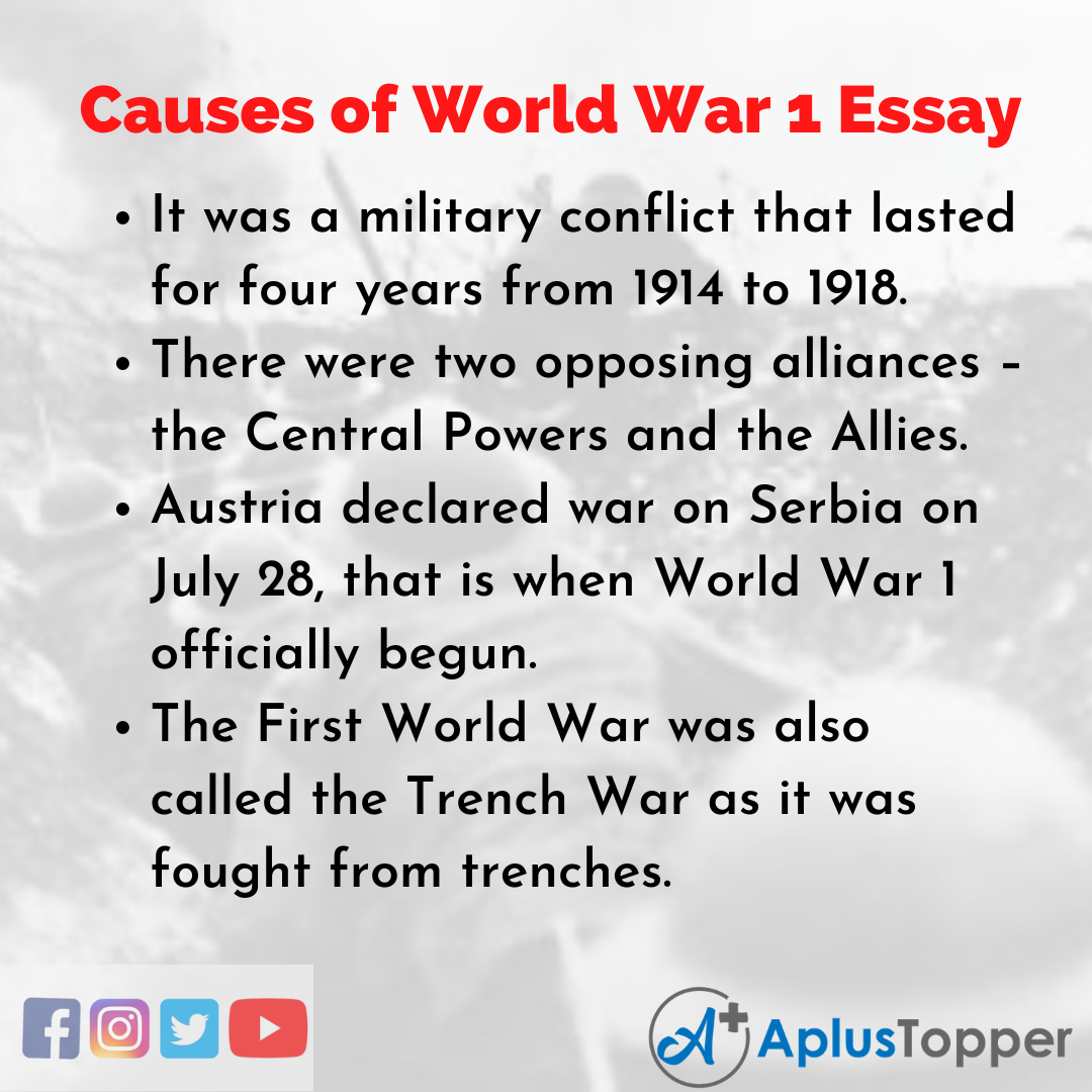 Essay about Causes of World War 1