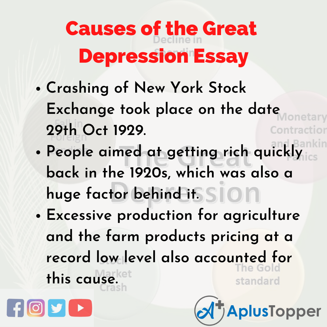 Essay about Causes of the Great Depression