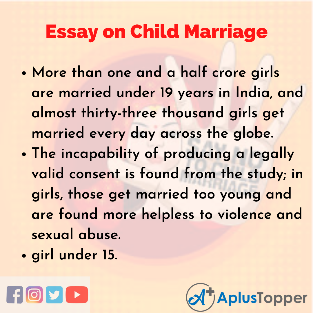 Essay about Child Marriage