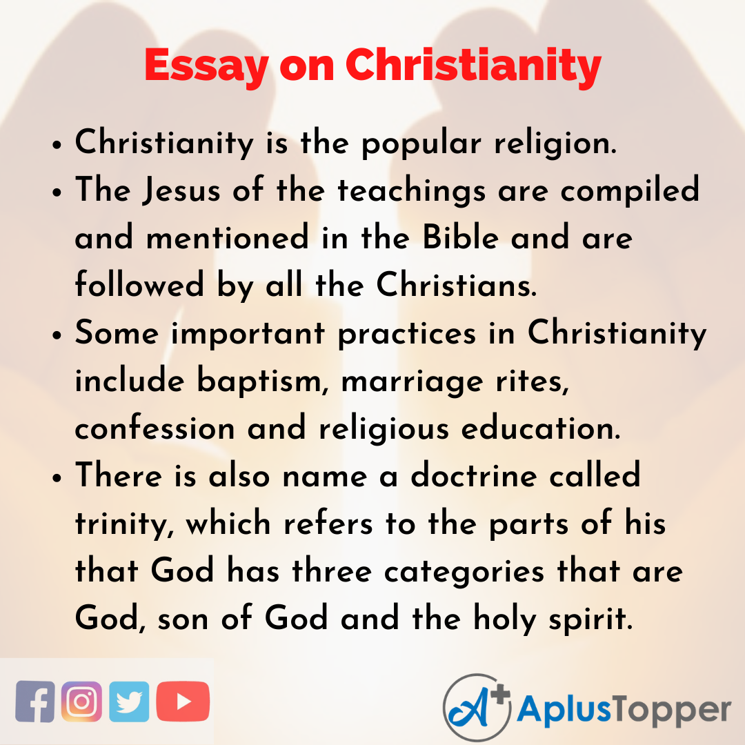 Essay about Christianity