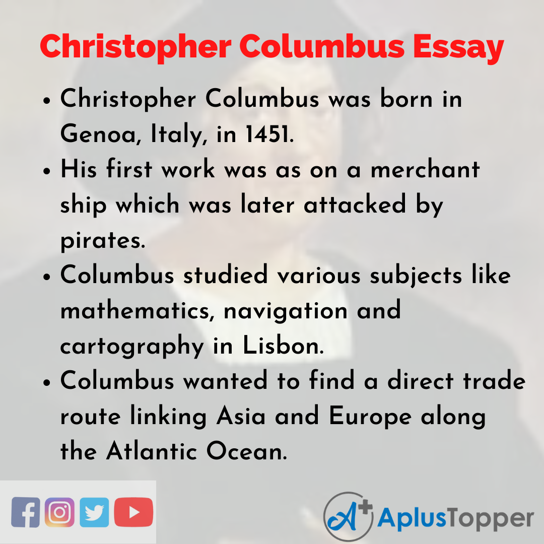 Christopher columbus essay attention getter sample resume for community college instructor