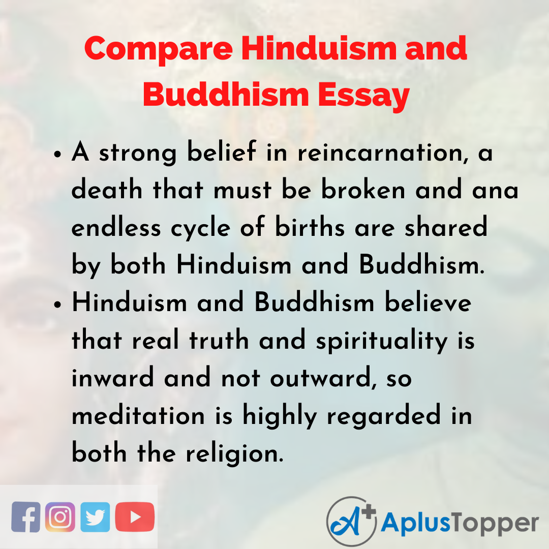 Essay about Compare and Contrast Hinduism and Buddhism