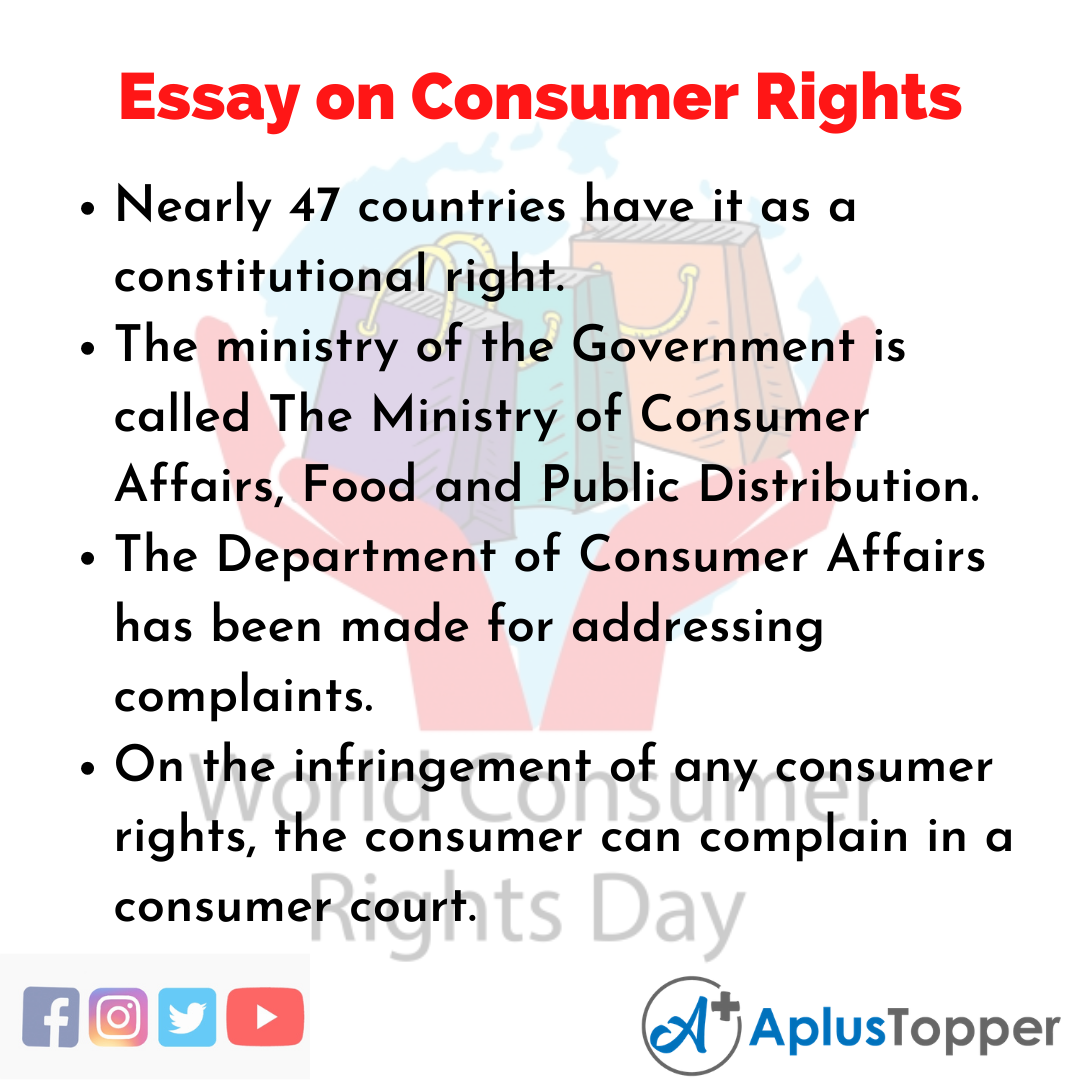 Essay about Consumer Rights