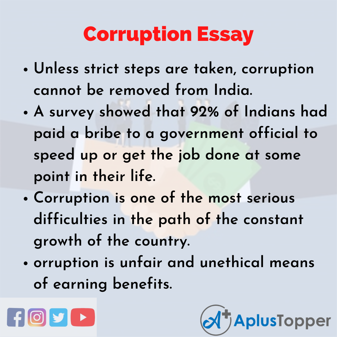 Essay about Corruption