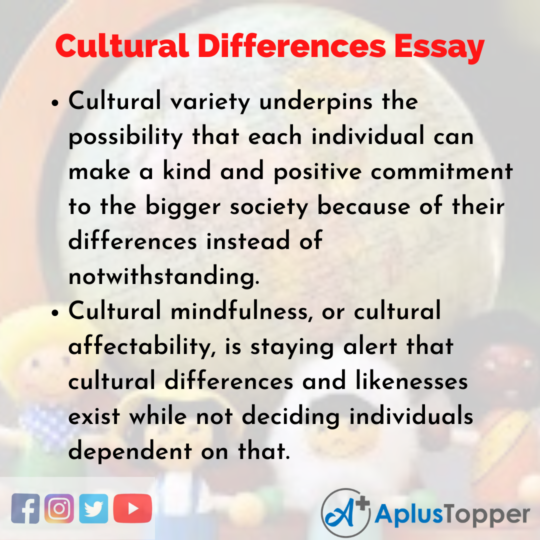 Essay about Cultural Differences