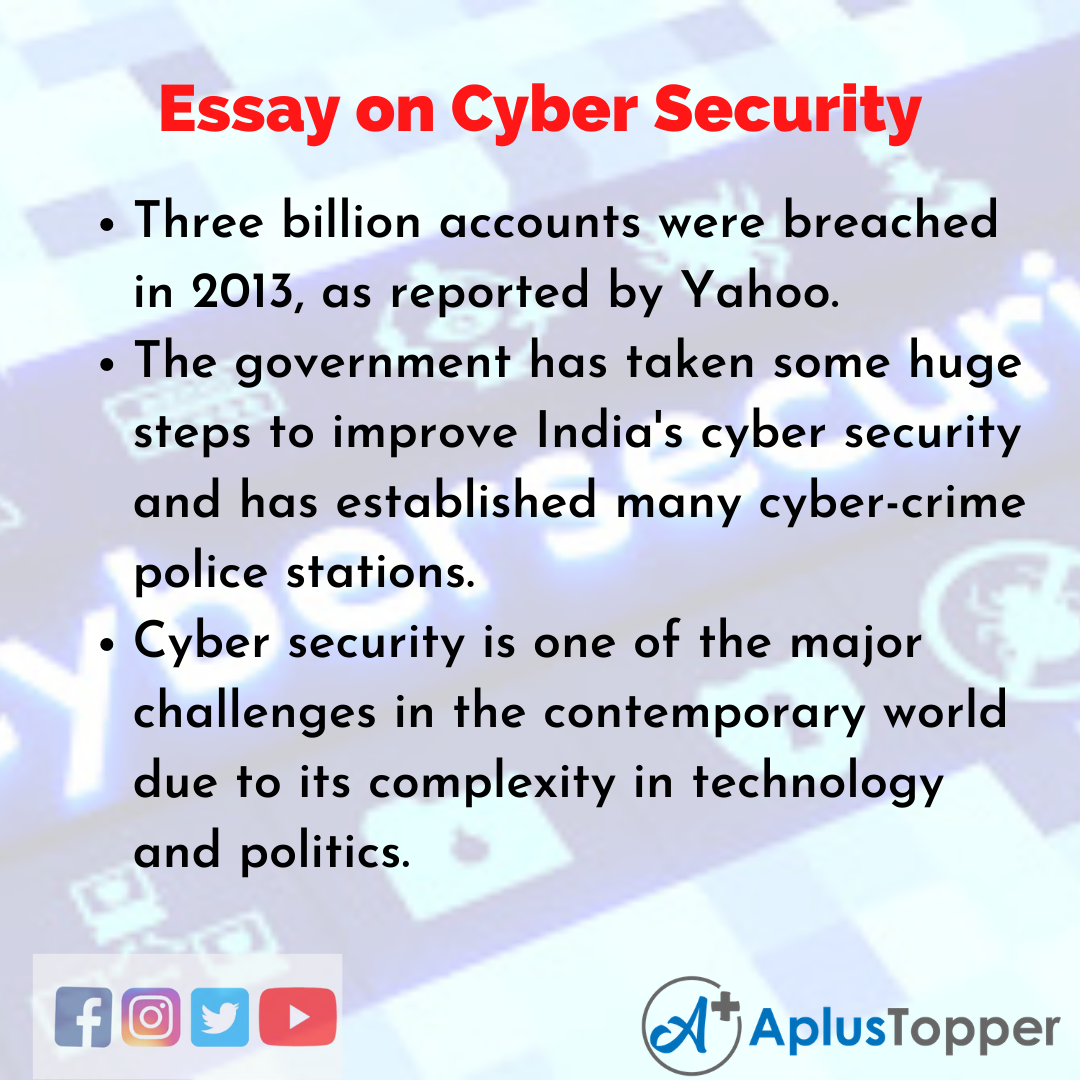 Essay about Cyber Security