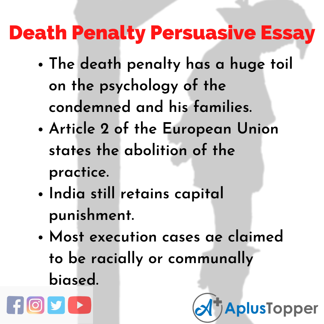 Essay about Death Penalty Persuasive