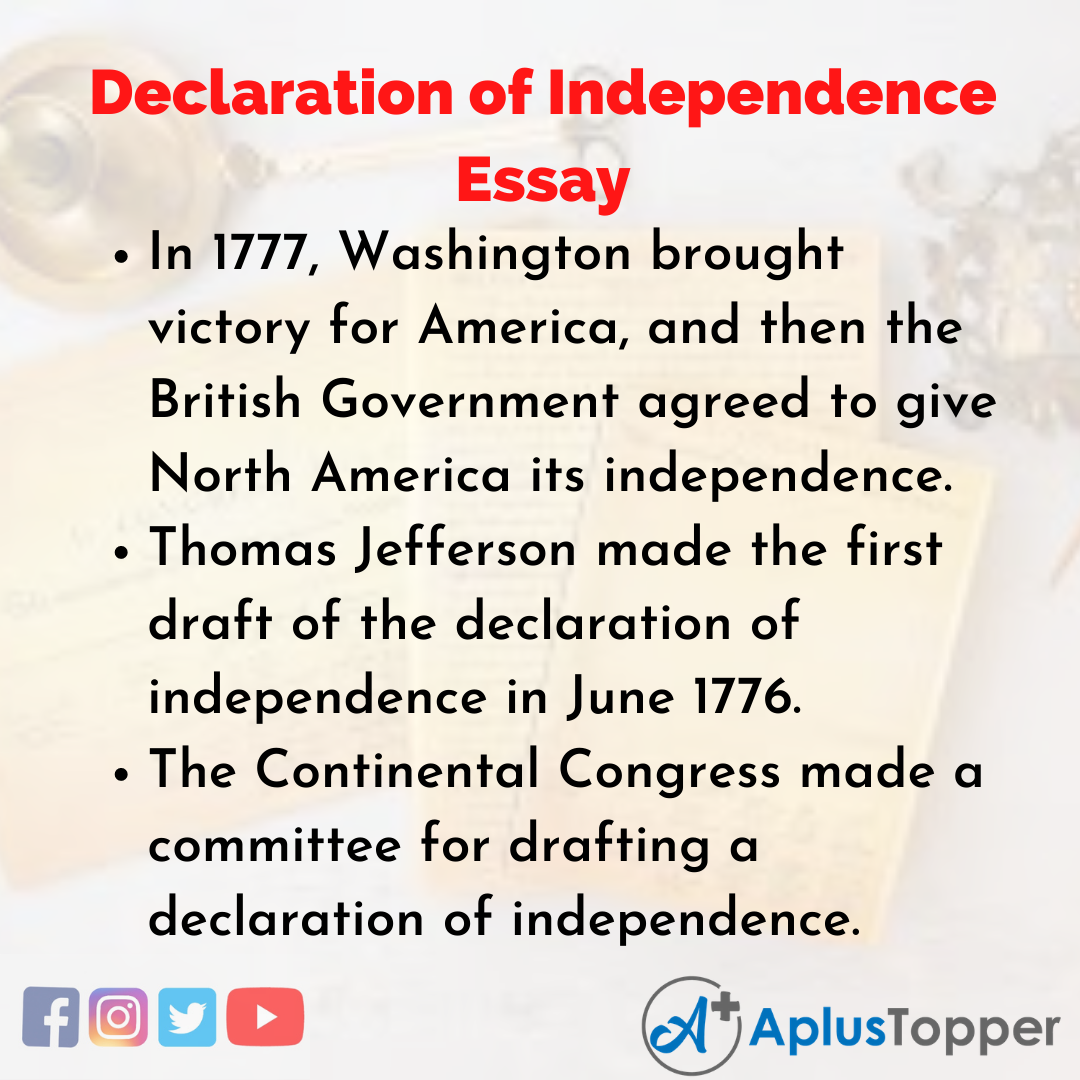 Essay about Declaration of Independence