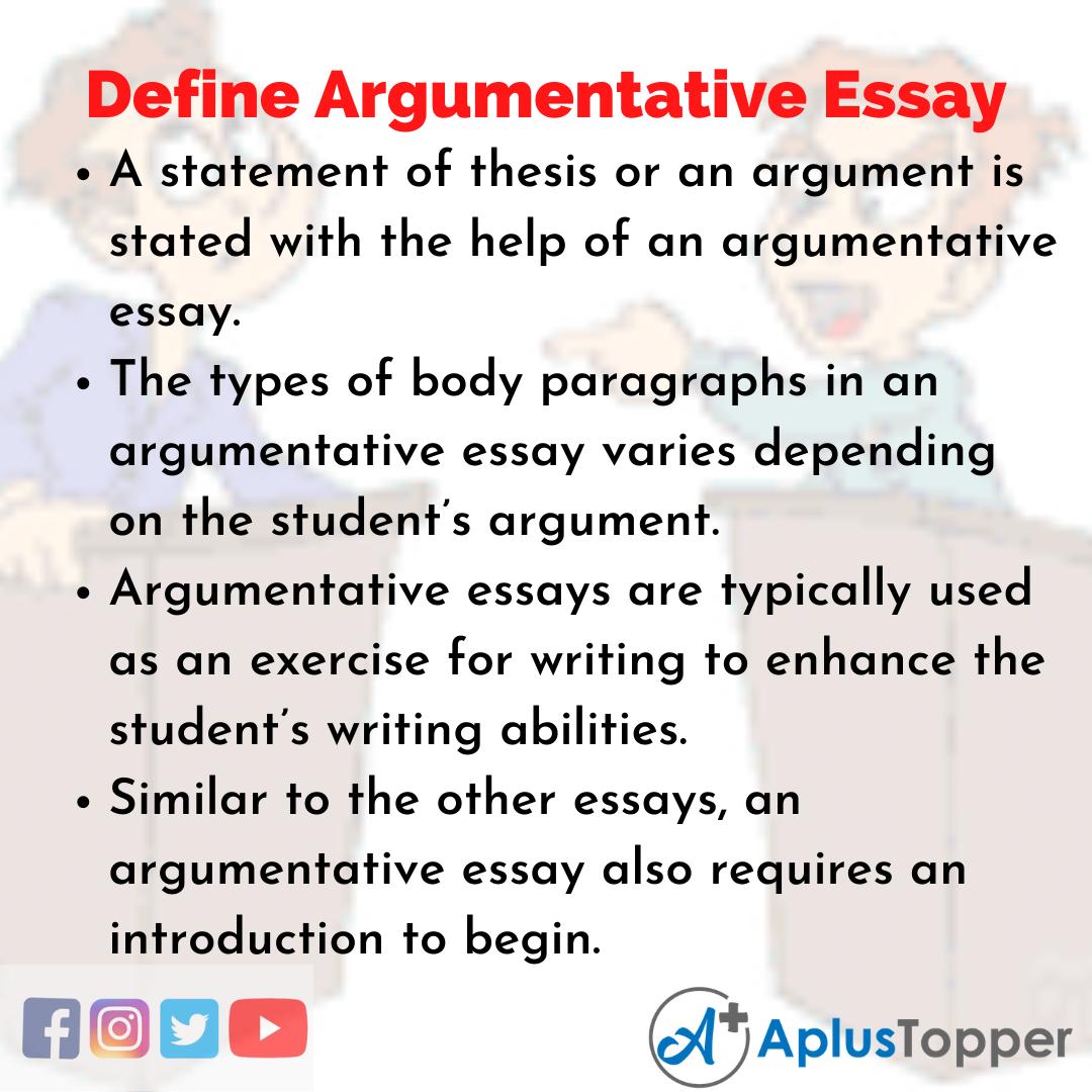 Essay about Define Argumentative