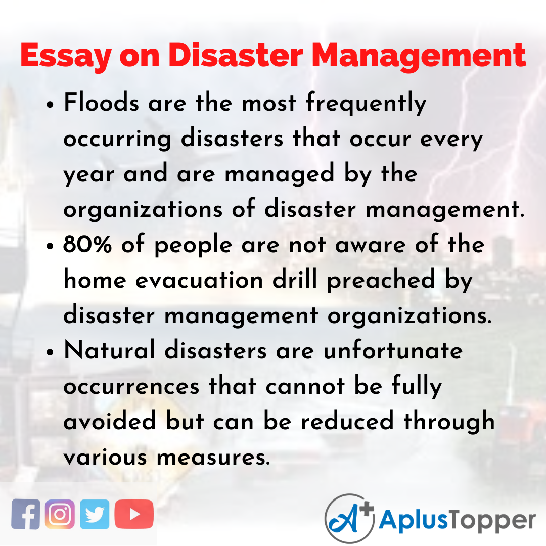 Essay about Disaster Management