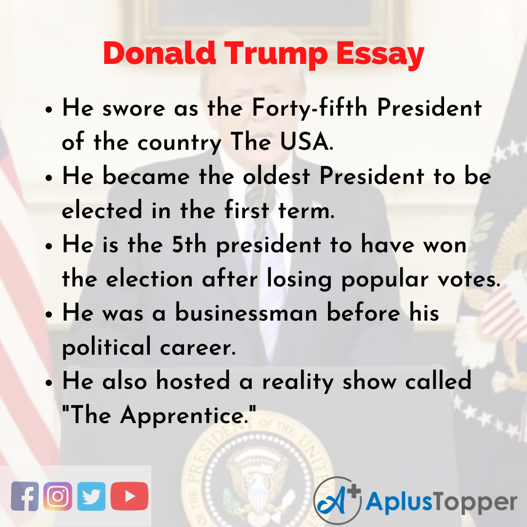 Essay about Donald Trump