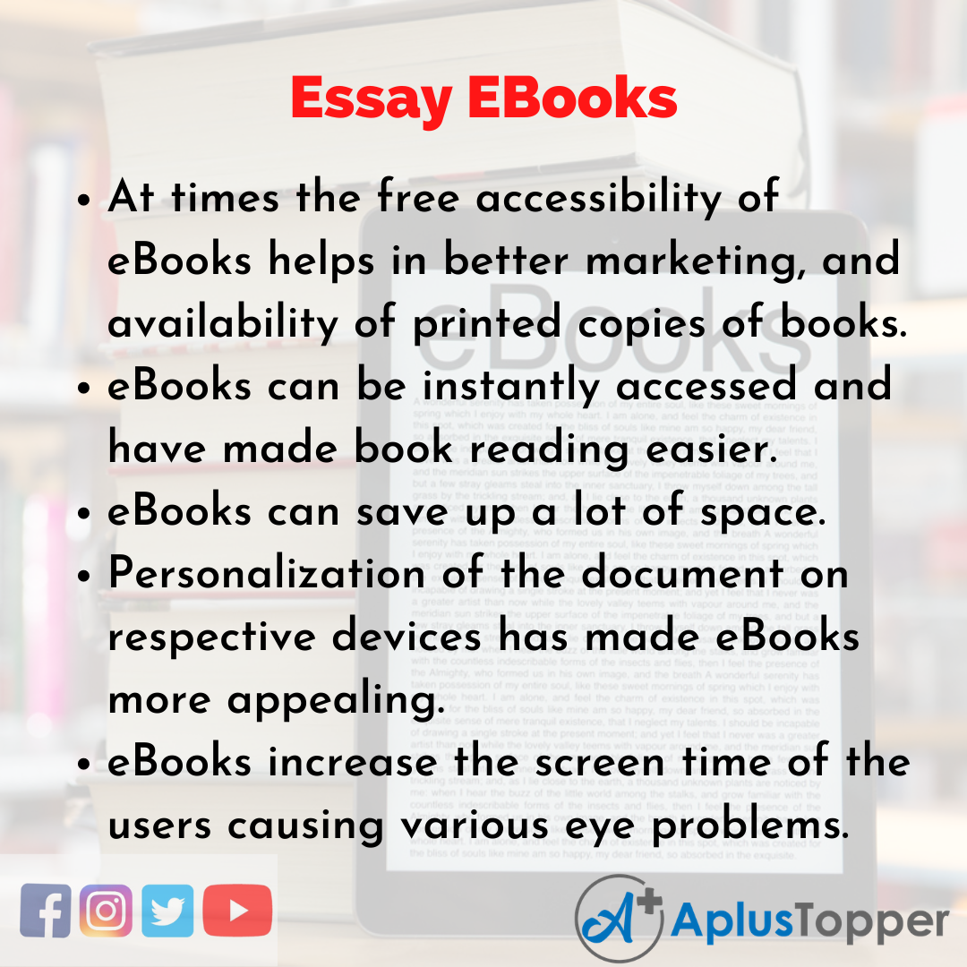 Essay about EBooks