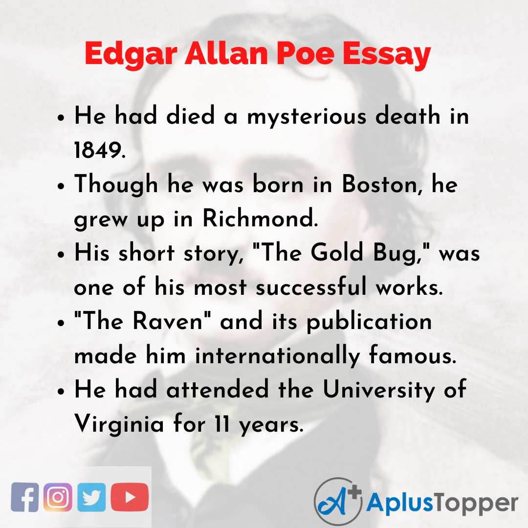 Essay about Edgar Allan Poe