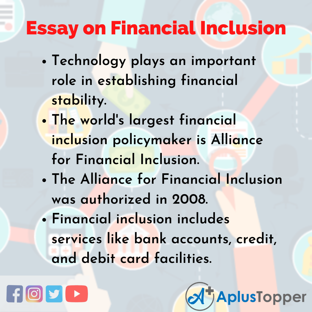 Essay about Financial Inclusion