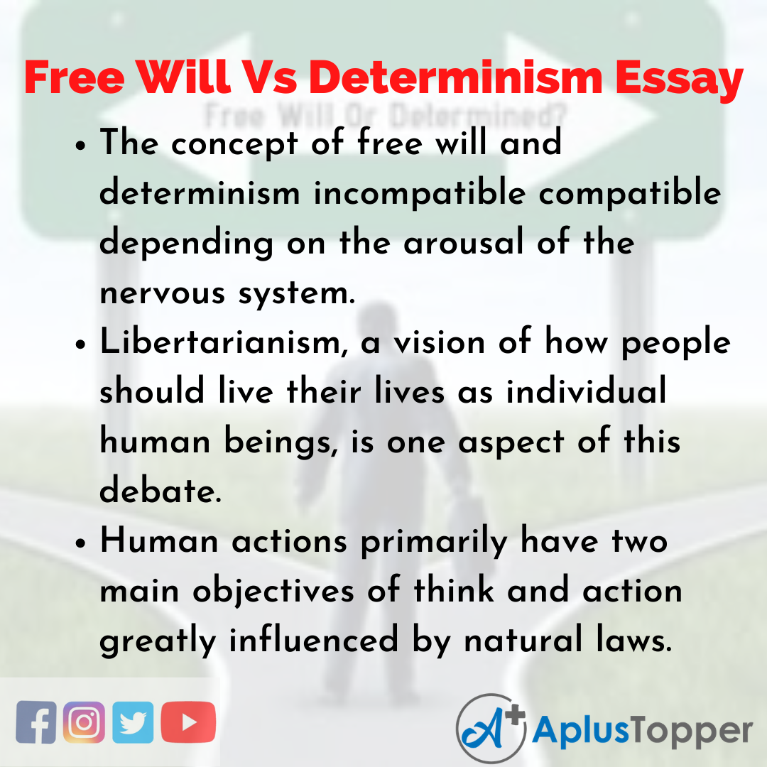 Essay about Free Will Vs Determinism
