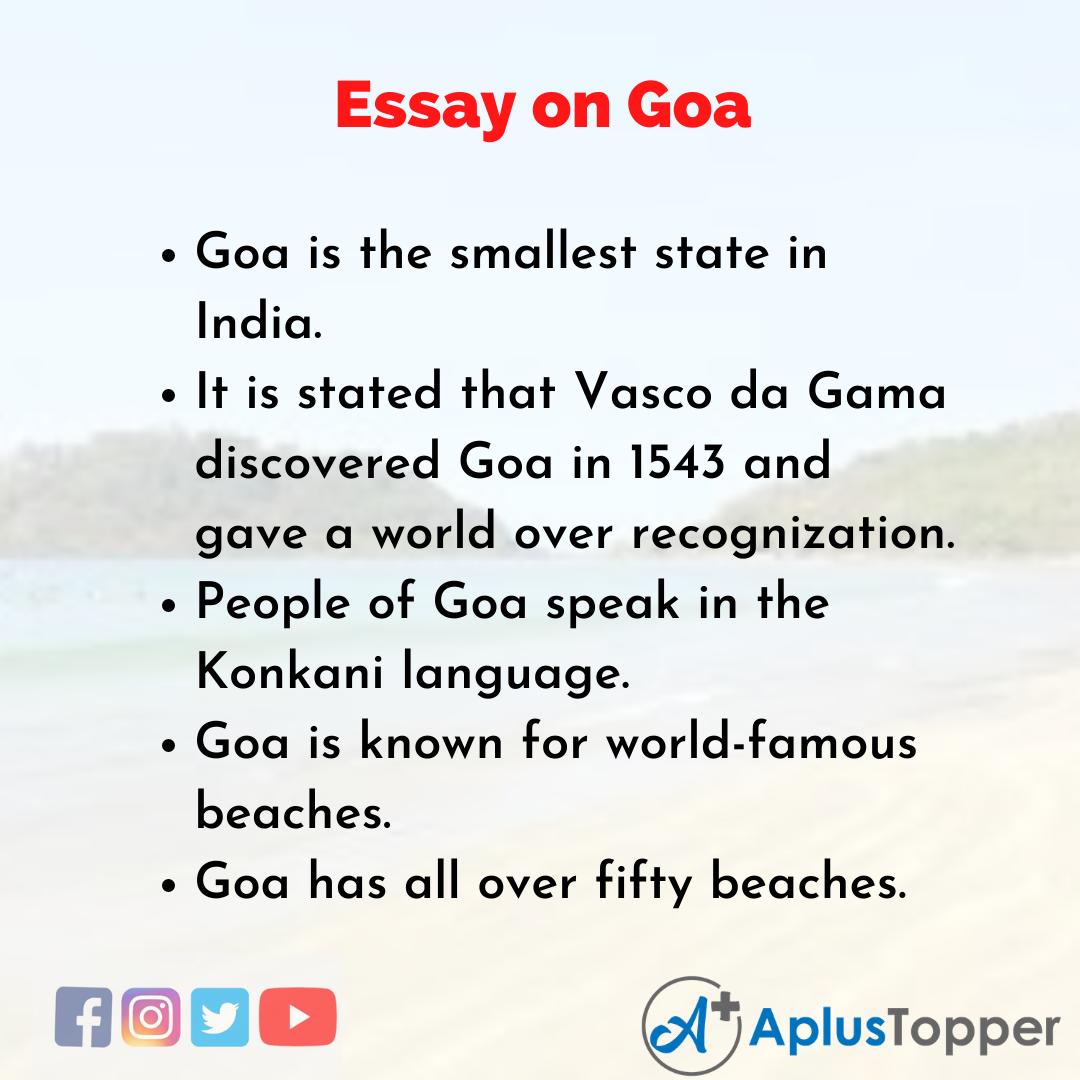 Essay about Goa