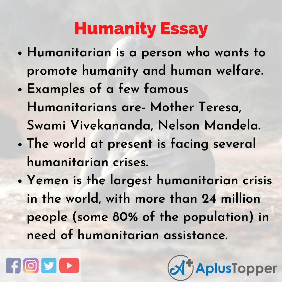 Essay about Humanity