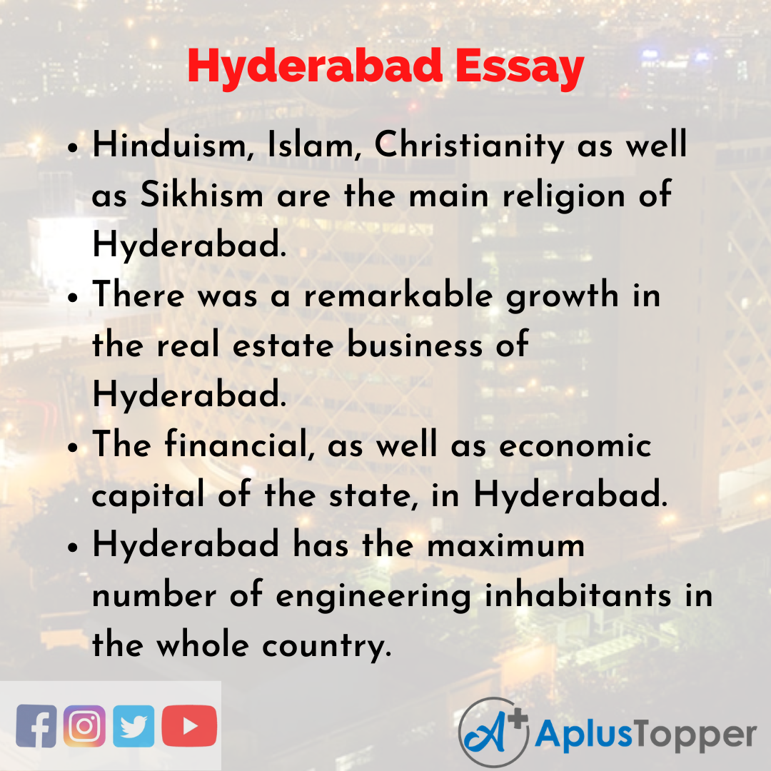 Essay about Hyderabad